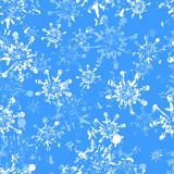 Copos de nieve de Grunge inconsútiles Fotografía de archivo libre de regalías