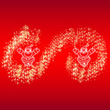 Copos de nieve de la estrella de Papá Noel de la tarjeta Fotografía de archivo
