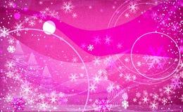 Copos de nieve de la fantasía rosas claros stock de ilustración