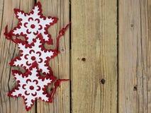 Copos de nieve de la Navidad Fotografía de archivo
