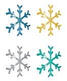 Copos de nieve de la perspectiva Imagenes de archivo