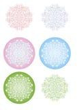 Copos de nieve de las flores de los algodones Fotos de archivo