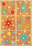 Copos de nieve de Navidad Fotografía de archivo libre de regalías