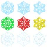 Copos de nieve de papel de la Navidad Fotografía de archivo libre de regalías