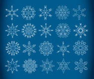 Copos de nieve decorativos Fotos de archivo