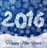 Copos de nieve del Año Nuevo Imagen de archivo libre de regalías