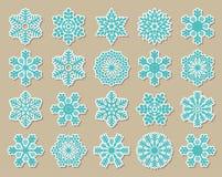 Copos de nieve del azul de la vendimia Imagen de archivo libre de regalías