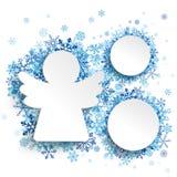 Copos de nieve del azul de los círculos del ángel 2 de la Navidad libre illustration