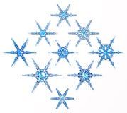 Copos de nieve del hielo Imagen de archivo