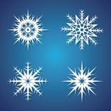 Copos de nieve del invierno fijados para el diseño de la Navidad Fotografía de archivo libre de regalías