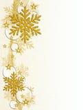 Copos de nieve del oro Imagen de archivo