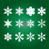 Copos de nieve del vector Fotos de archivo