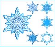 Copos de nieve del vector stock de ilustración