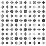 100 copos de nieve del vector Fotos de archivo libres de regalías