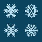 Copos de nieve del vector fijados Fotos de archivo