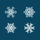 Copos de nieve del vector fijados Imagenes de archivo