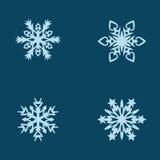 Copos de nieve del vector fijados Foto de archivo libre de regalías