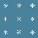 Copos de nieve del vector fijados Fotos de archivo libres de regalías
