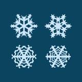 Copos de nieve del vector fijados Imagen de archivo