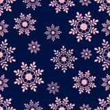 Copos de nieve del vector Textura inconsútil del triángulo, modelo sin fin del invierno, diseño del día de fiesta Imagenes de archivo