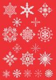 Copos de nieve - ejemplo Foto de archivo