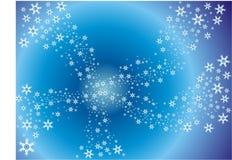 Copos de nieve en azul libre illustration