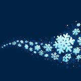 Copos de nieve en fondo azul libre illustration