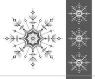 Copos de nieve en un fondo blanco Año Nuevo Ilustración del vector Imágenes de archivo libres de regalías