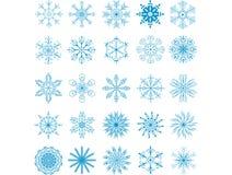 Copos de nieve fijados Fotos de archivo libres de regalías