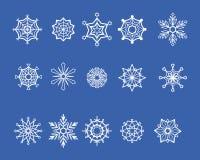 Copos de nieve fijados Imagen de archivo