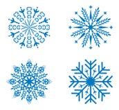 Copos de nieve fijados para el diseño Foto de archivo