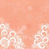Copos de nieve fondo, vector Fotos de archivo libres de regalías