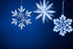 Copos de nieve hermosos Imágenes de archivo libres de regalías
