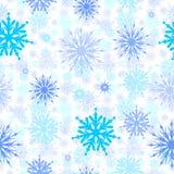 Copos de nieve inconsútiles foto de archivo