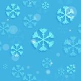 Copos de nieve inconsútiles abstractos Imagen de archivo
