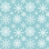 Copos de nieve inconsútiles del modelo del vector Fotografía de archivo libre de regalías