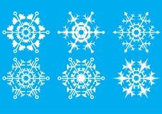 Copos de nieve. La forma cristalina. Fotos de archivo libres de regalías