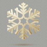 Copos de nieve de papel de la decoración de la Navidad del vintage con la sombra aislada en fondo transparente EPS 10 stock de ilustración