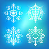 Copos de nieve para las ilustraciones del diseño Fotografía de archivo