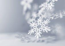 Copos de nieve que caen Imágenes de archivo libres de regalías