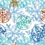 Copos de nieve redondos del multicolor libre illustration