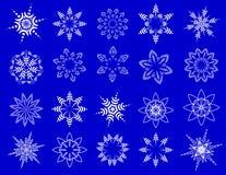 Copos de nieve simbólicos. Fotografía de archivo