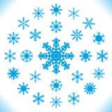 Copos de nieve - sistema de 25 pedazos. Fotos de archivo