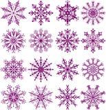 Copos de nieve, vector Imágenes de archivo libres de regalías