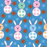 Copos de nieve y conejos Imágenes de archivo libres de regalías