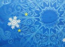 Copos de nieve y estrellas abstractos del fondo de la Navidad Imagenes de archivo