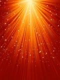 Copos de nieve y estrellas en luz de oro. EPS 8 libre illustration