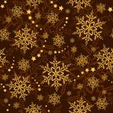 Copos de nieve y estrellas inconsútiles, papel pintado del invierno Imágenes de archivo libres de regalías