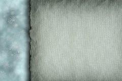 Copos de nieve y hoja del papel en blanco Foto de archivo