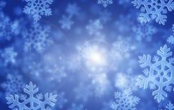 Copos de nieve y luz Fotos de archivo